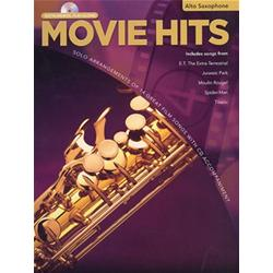 Movie Hits Instrumental Playalong Alto Saxophone Book con CD
