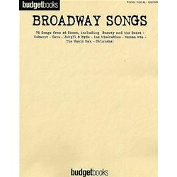 Budget Books Broadway Songs