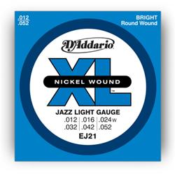 D'ADDARIO Muta per Chitarra Elettrica Nickel Wound 12/52 Jazz Light